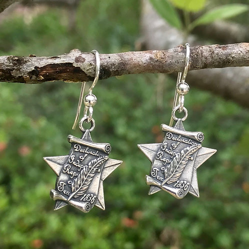Texas Declaration of Independence Earrings