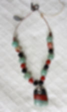 Natural Elements Jewelry Adventurine Carnelian Necklace Richmond Texas Earth Jewelry