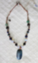 Natural Elements Jewelry Chrysocolla Stone Necklace Richmond Texas Earth Jewelry