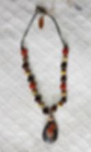 Natural Elements Jewelry Orange Calcite Necklace Richmond Texas Earth Jewelry