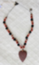 Natural Elements Jewelry Heart Shaped Red Jasper Necklace Richmond Texas Earth Jewelry