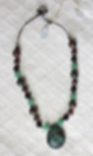 Natural Elements Jewelry Zoisite Necklace Richmond Texas Earth Jewelry