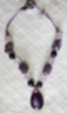 Natural Elements Jewelry Amethyst Necklace Richmond Texas Earth Jewelry