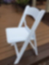 White resin padded chair.JPG
