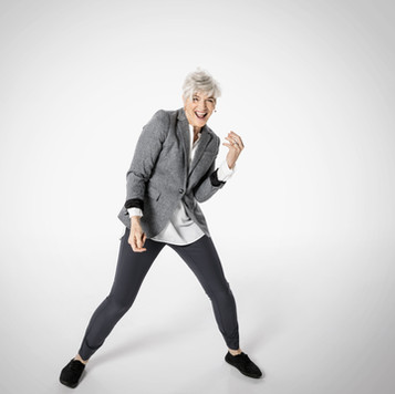 Playful Senior Woman