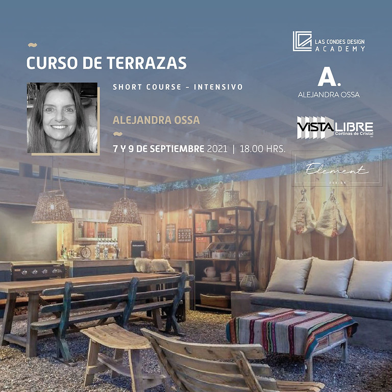 """""""Curso de Terrazas"""" por Alejandra Ossa"""