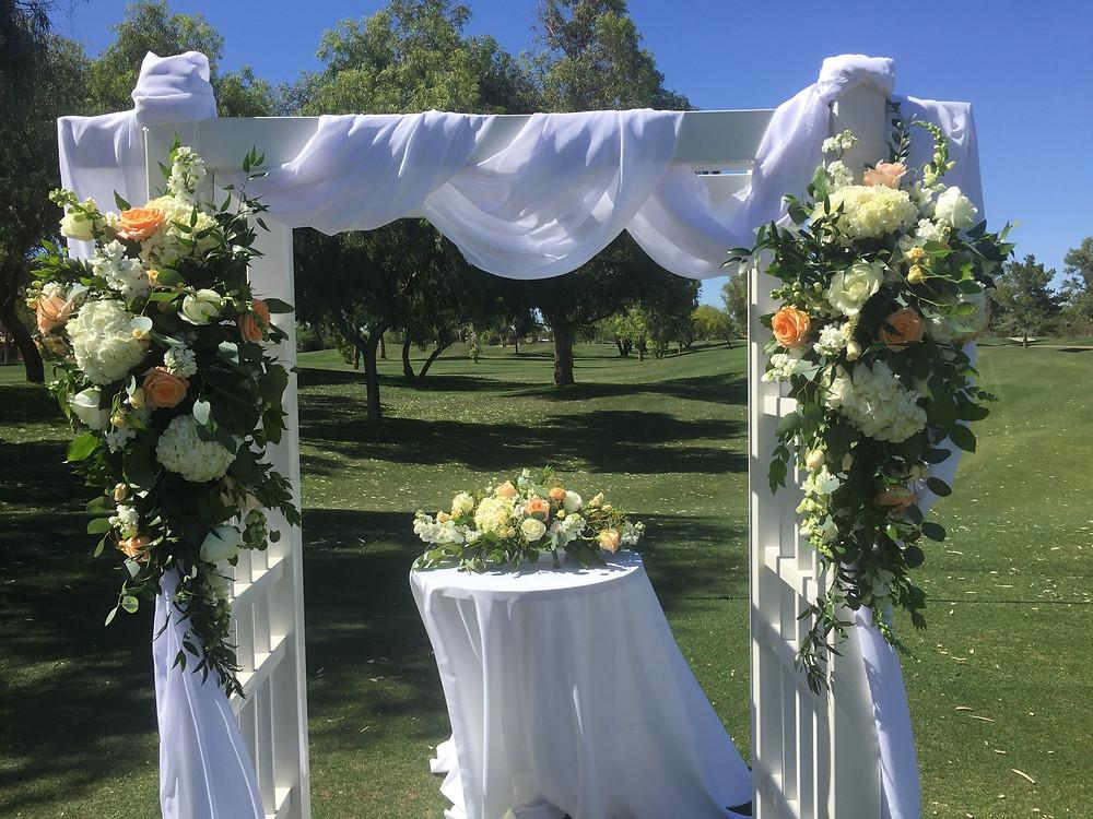 Wedding arch at Starfire Golf Club