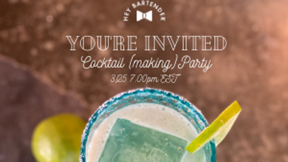 Let's Mix it Up! Create Your Own Cocktail Class