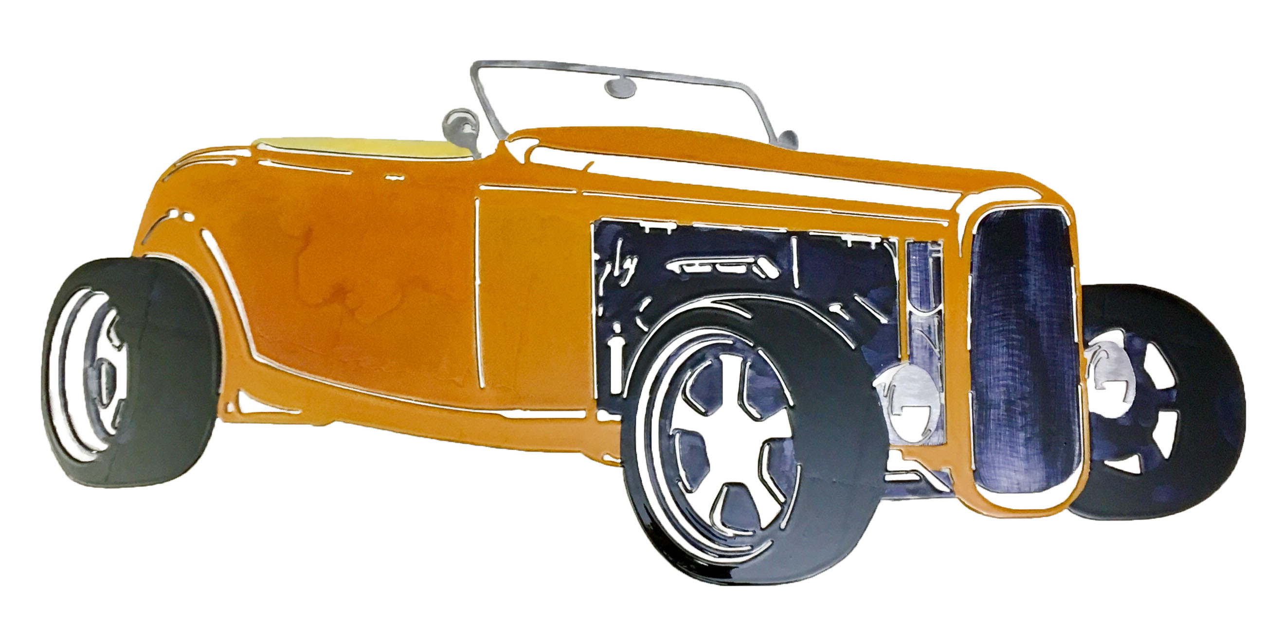 Ford Roadster Custom_Orange
