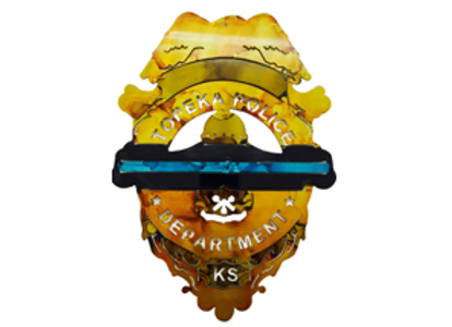 Topeka Police Badge with Thin Blue Line