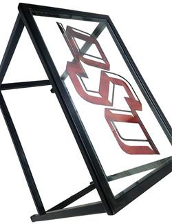 Custom Glasstop Endtable_OSU