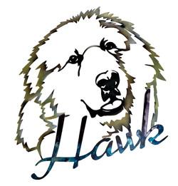 Hawk Show Dog_Custom_MetalWork_SmallBusi