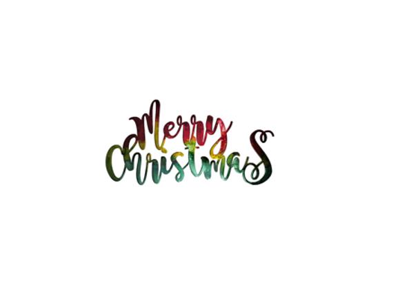 Merry Christmas (Modern Script)