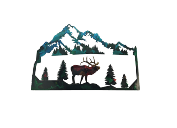 Elk and Mountains