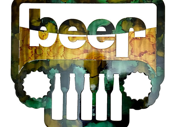 """Jeep """"Beer"""" Sign"""