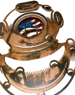 Diving Helmet with Flag Angle 1