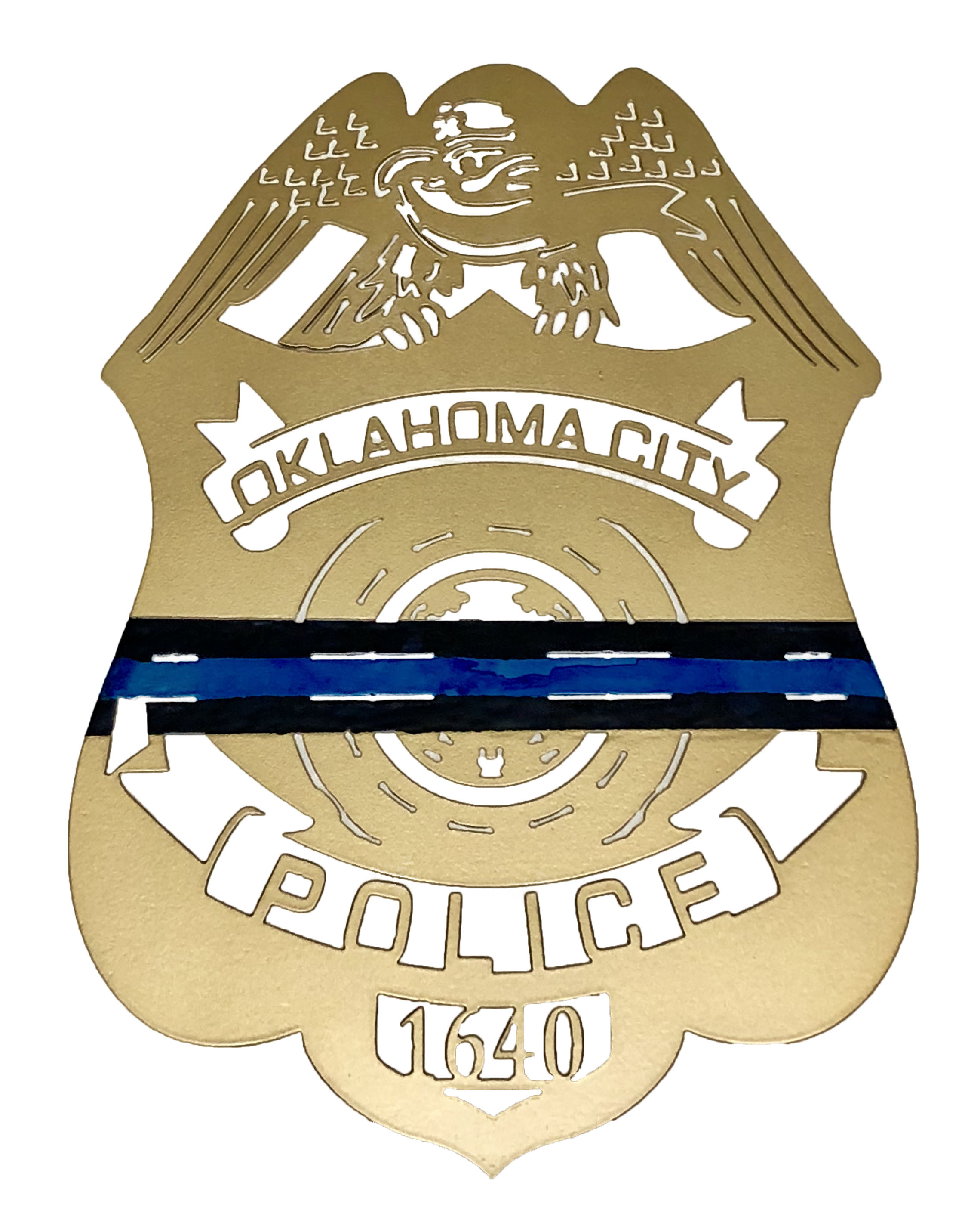 OKC Thin Blue Line Police Badge_Custom