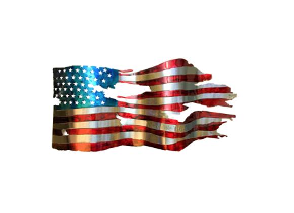 In God We Trust Tattered Flag