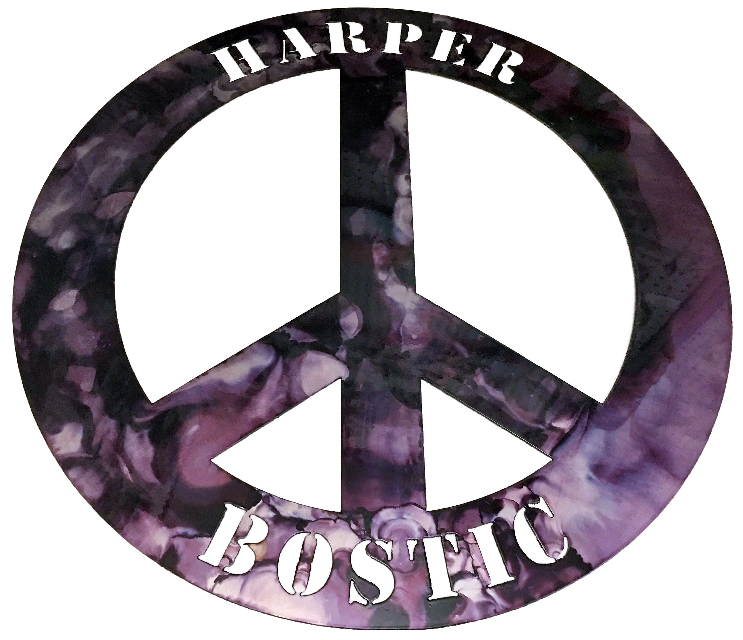 Peace Sign_Harper Custom_MetalWork_Small