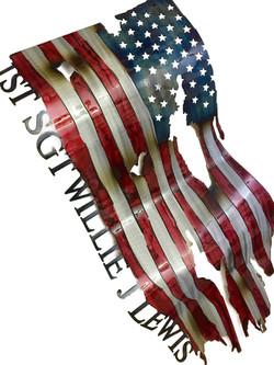 Custom Flag_SGT William J Lewis Angle