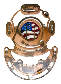 Diving Helmet with Flag