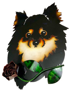Custom Pomeranian with Rose