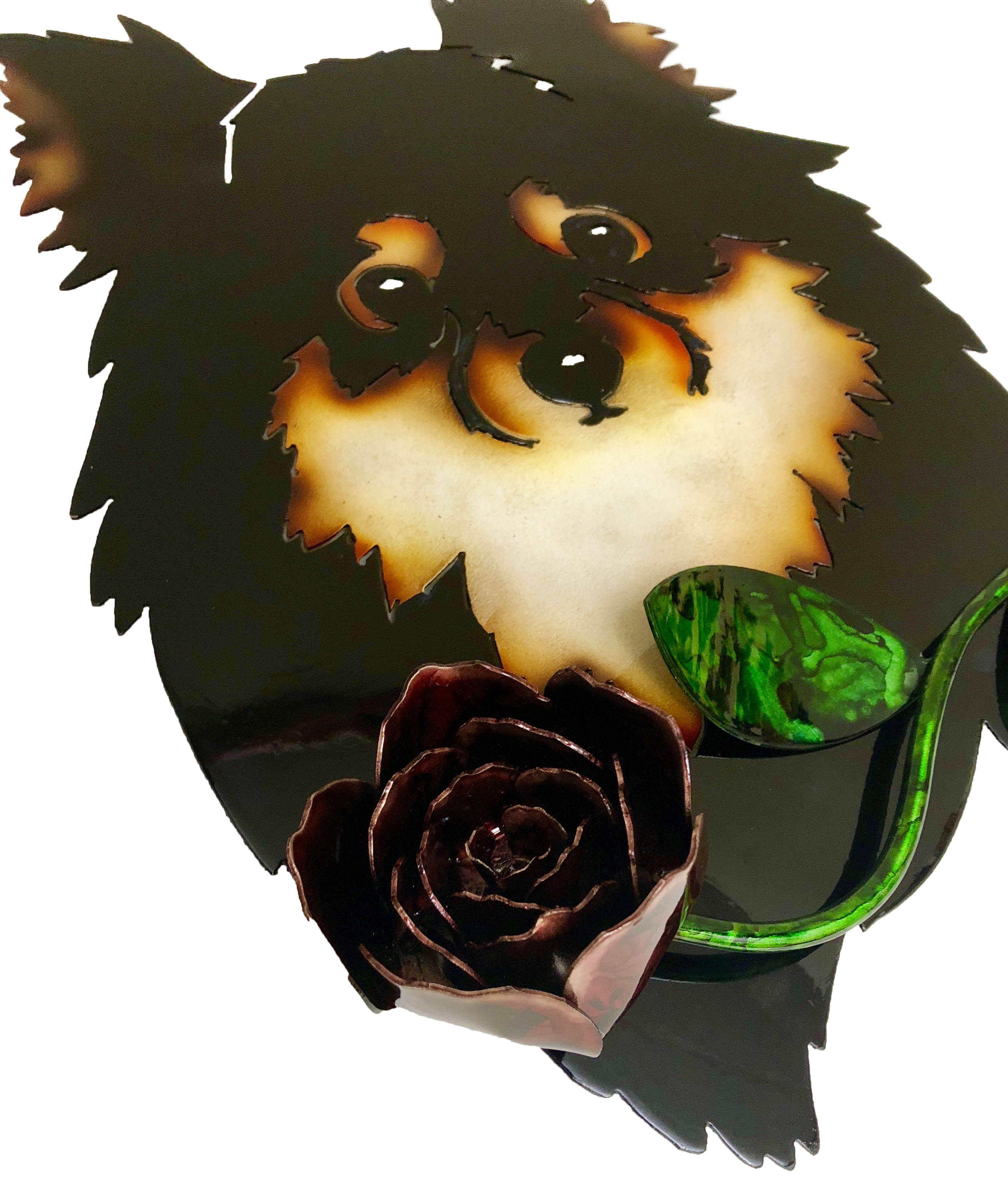 Custom Pomeranian with Rose Angle 2