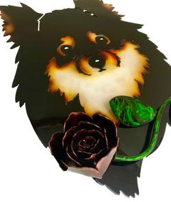 Custom Pomeranian with Rose Angle 2