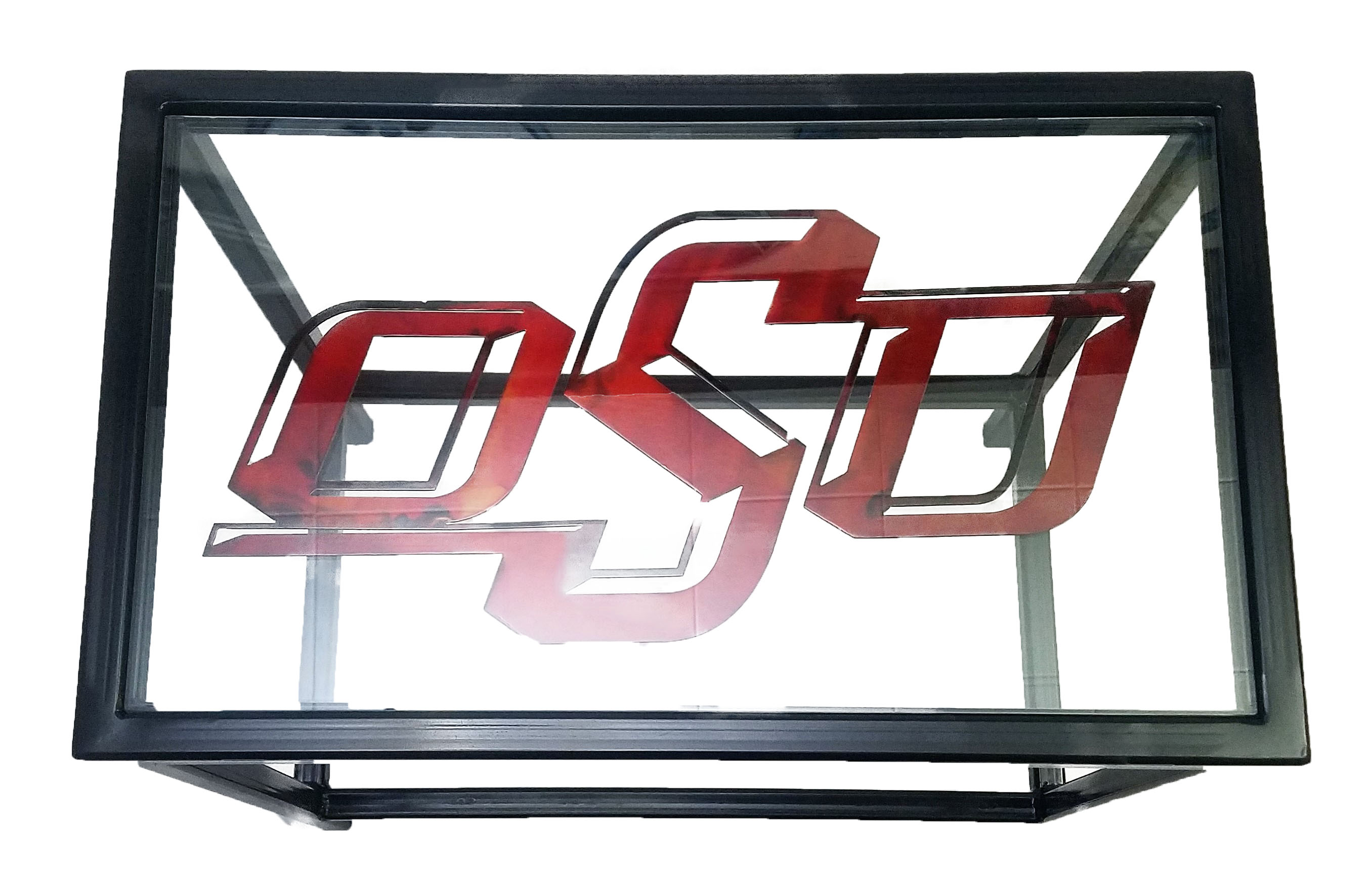 Custom Glasstop Endtable_OSU 2