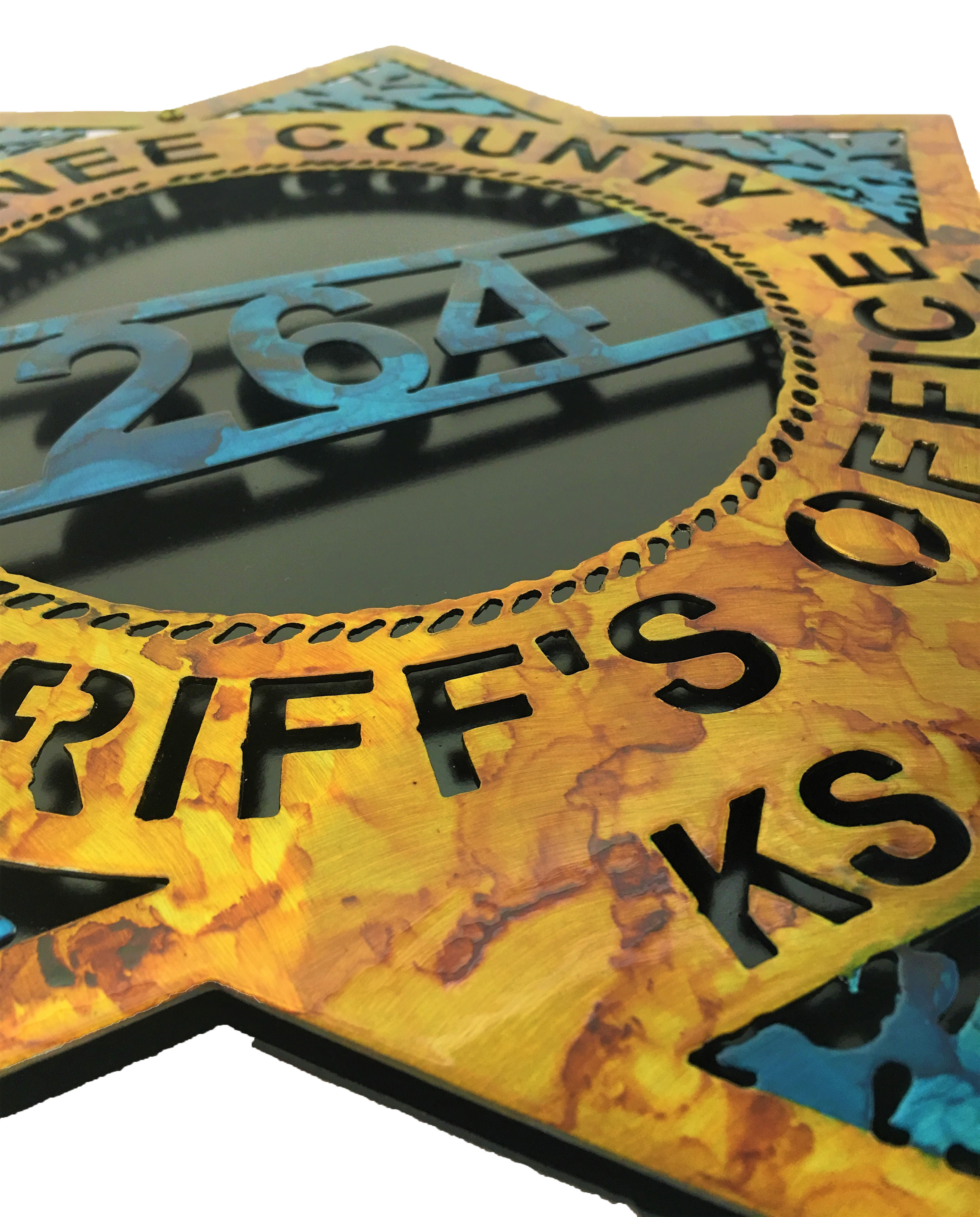 Custom Sheriffs Badge Angle_DoublePlate