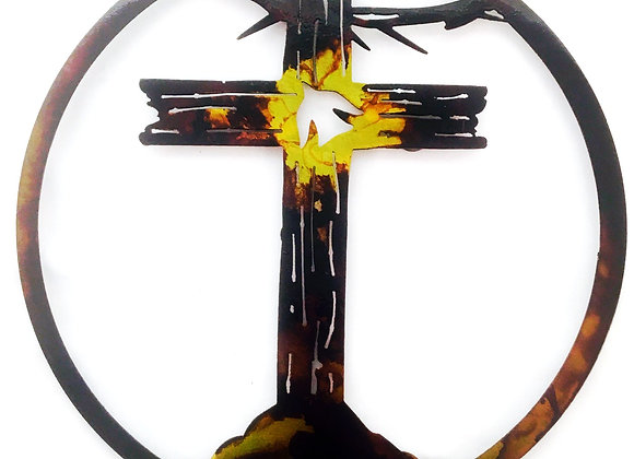 Wooden Dove Cross