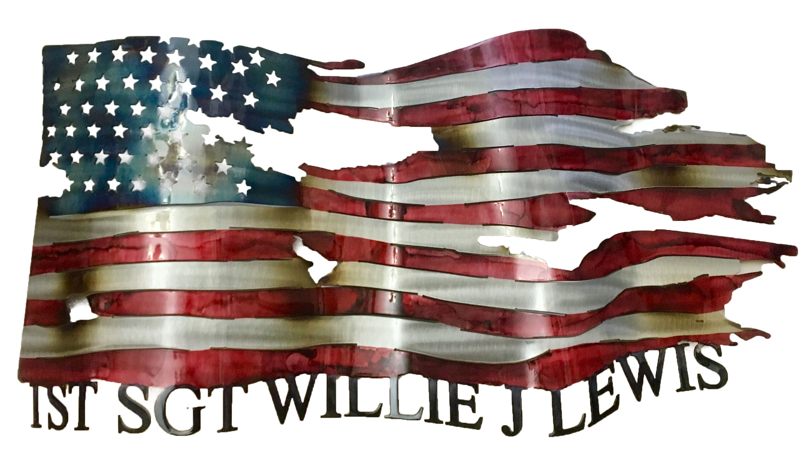 Custom Flag_SGT William J Lewis