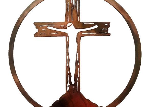Wooden Hangin Cross