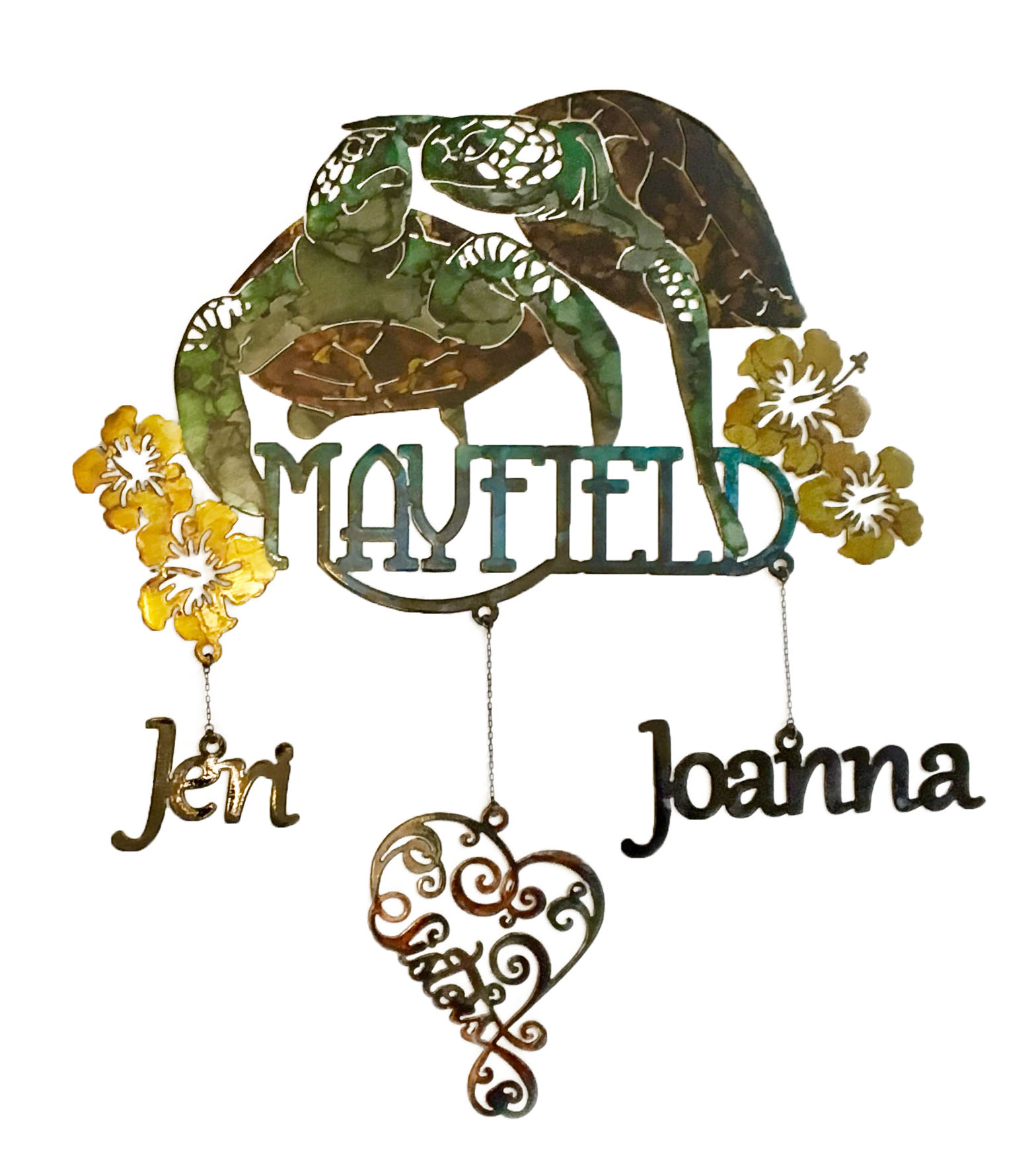 Custom Mayfield Sisters Sign_Turtle