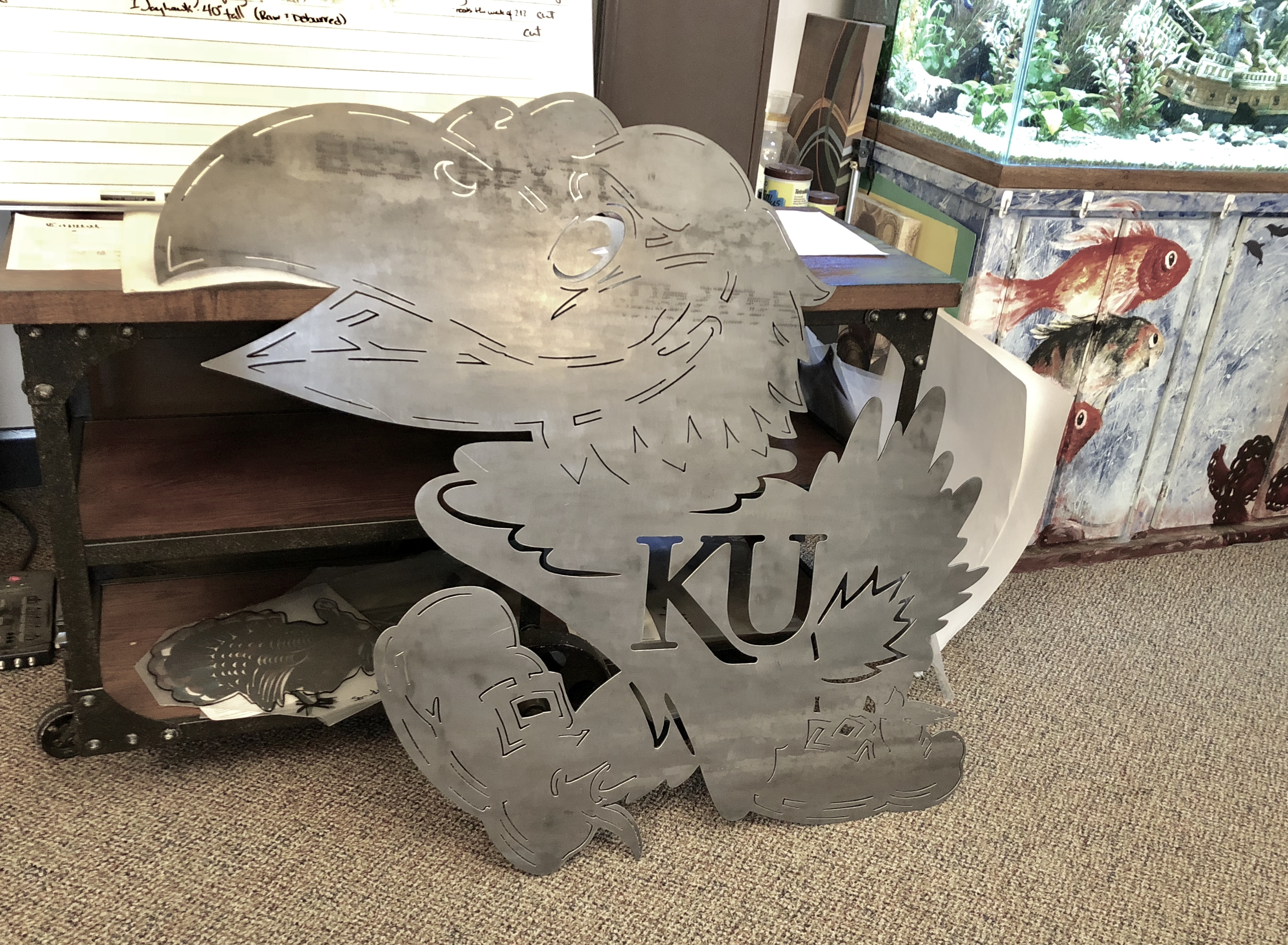 Large KU Jayhawk_Custom