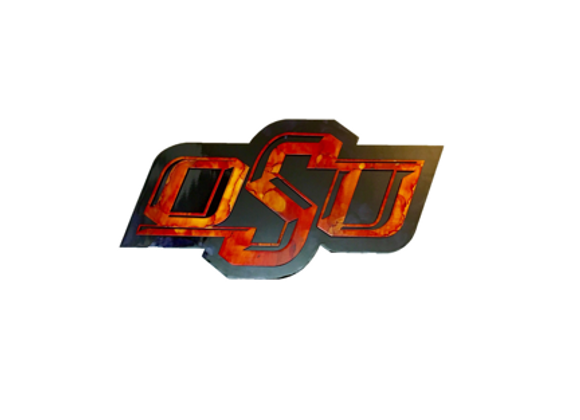 OSU Banner Logo, Double Plate