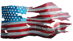 Thank You For Your Service_Custom_Torn&TatteredFlag