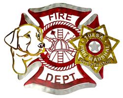 Dog & Badge Fire Maltese_Custom