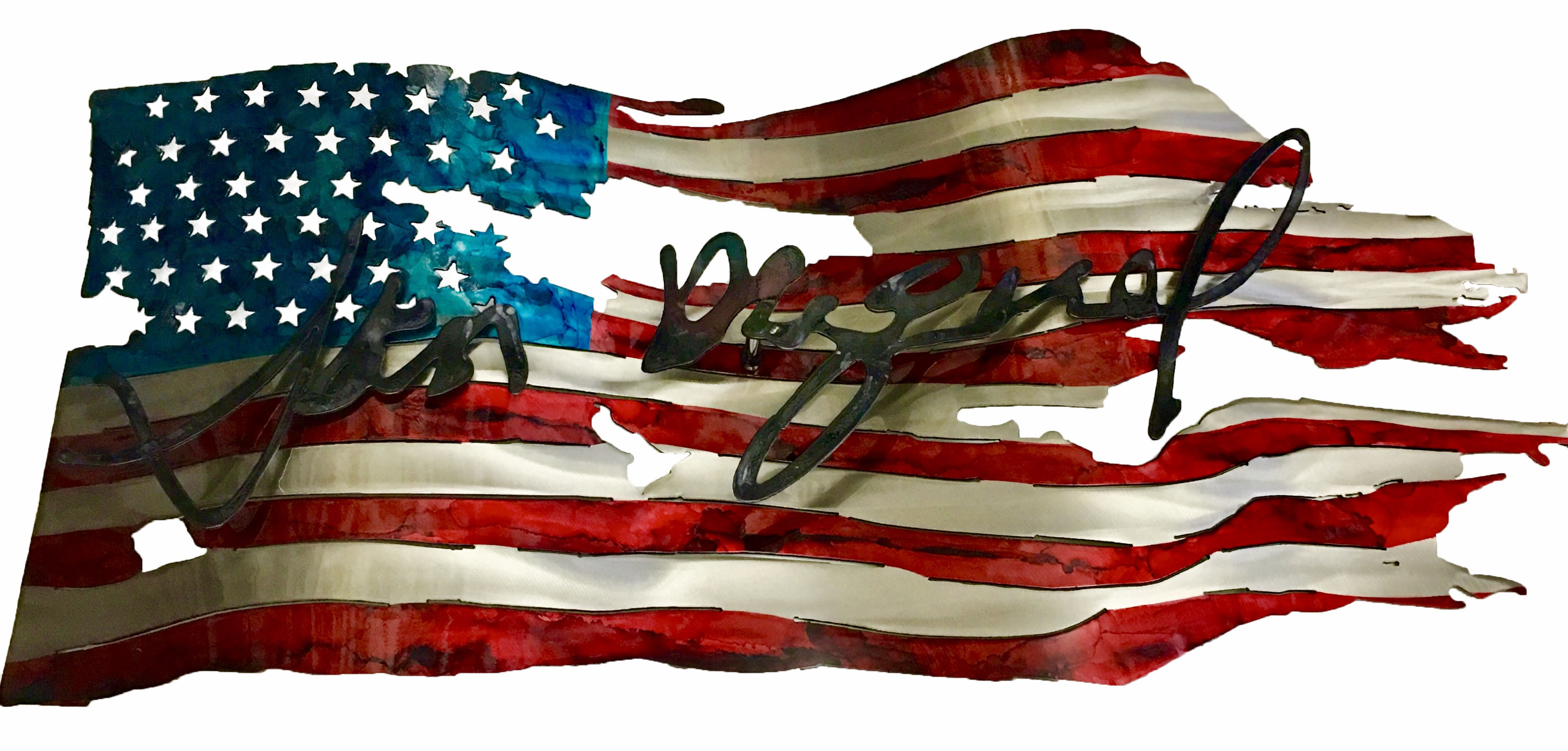 Custom Flag_Signature_Autograph_JohnHanc
