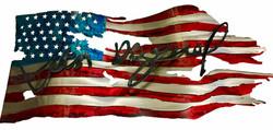 Custom Flag_Signature_Autograph_JohnHanc