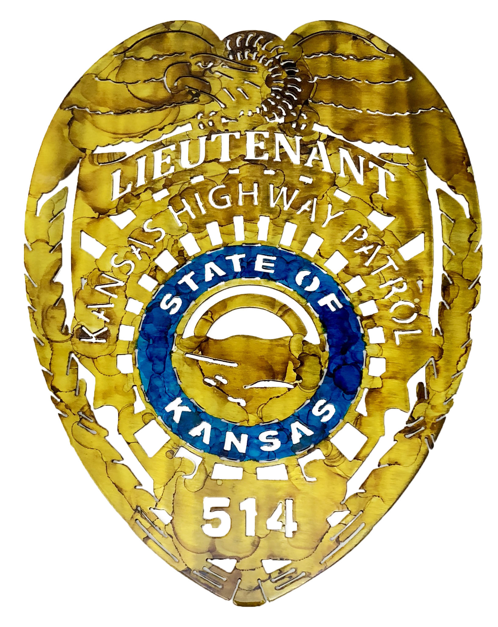Kansas State Highway Patrol Badge_Custom_514