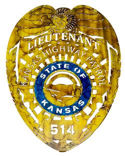 Kansas State Highway Patrol Badge_Custom_514