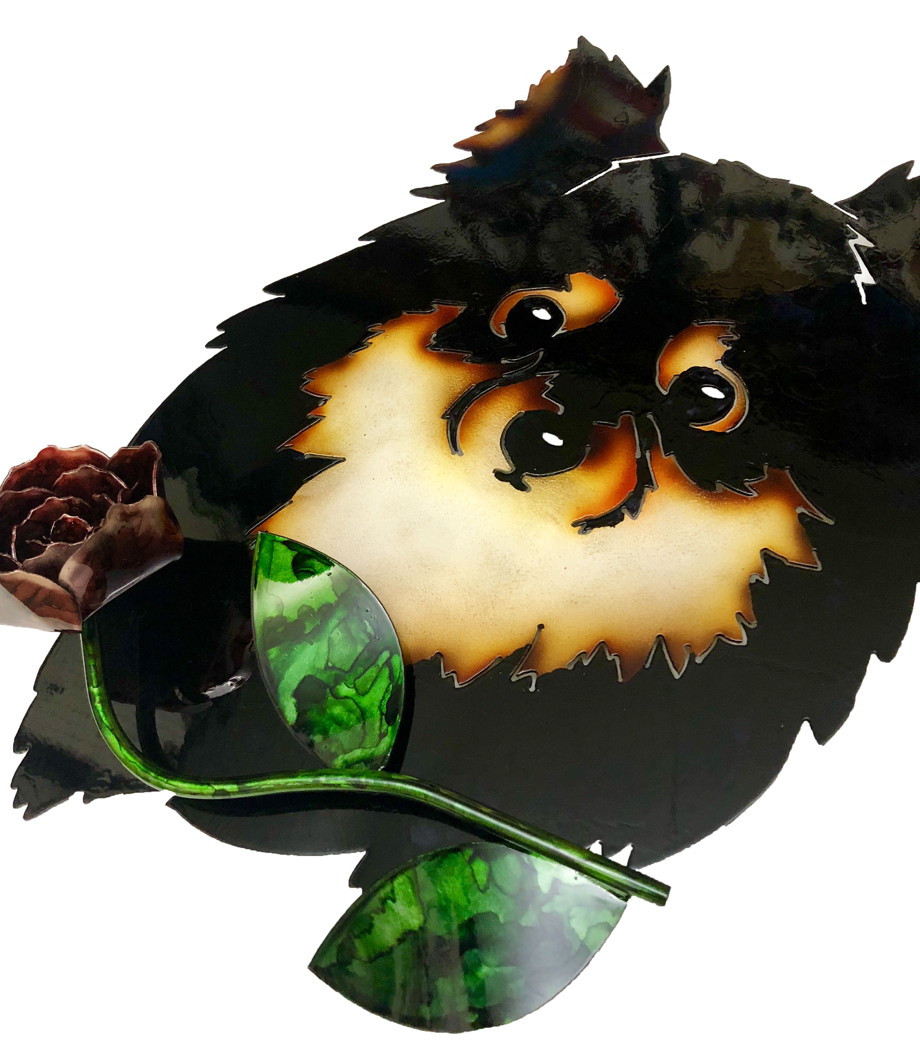 Custom Pomeranian with Rose Angle 1