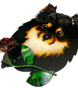 Custom Pomeranian with Rose Angle 1