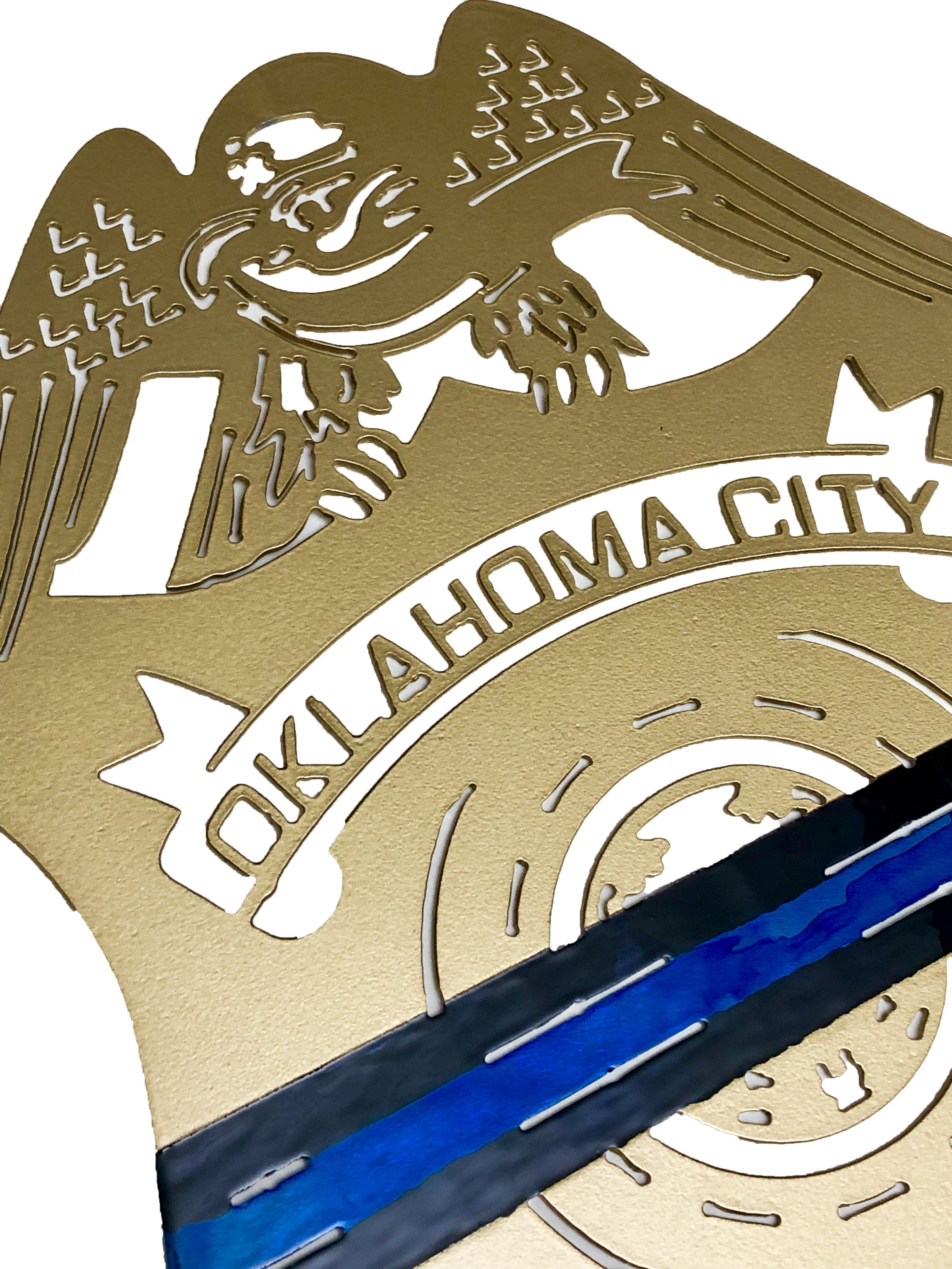 OKC Thin Blue Line Police Badge Angle 2_Custom
