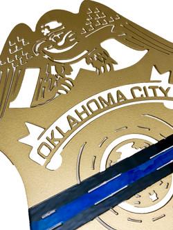 OKC Thin Blue Line Police Badge Angle 2_Custom