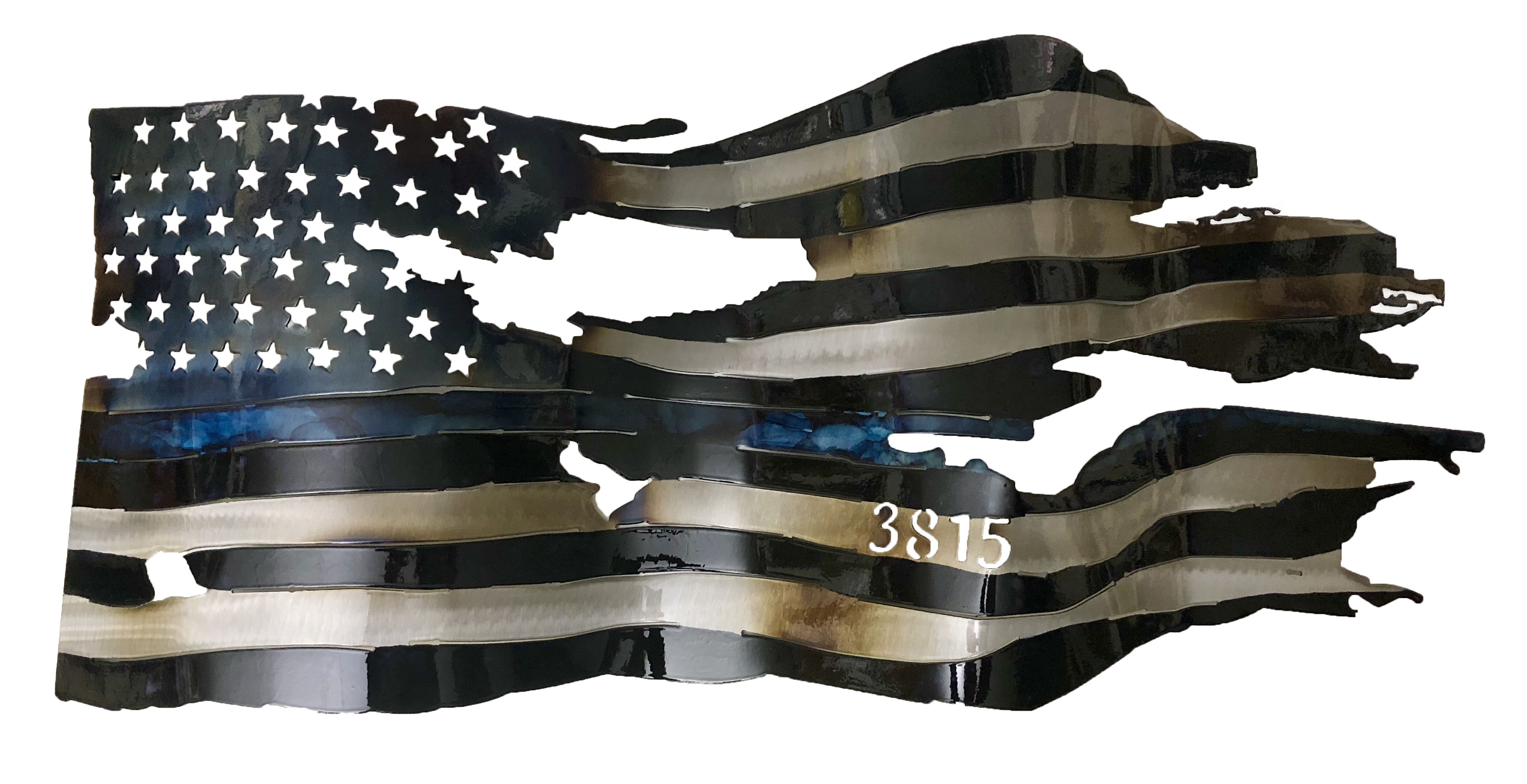3815 Custom Thin Blue Line Flag