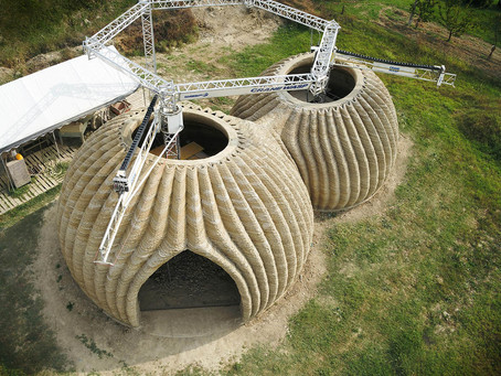 Casas impressas em 3D a partir de terra em 200 horas