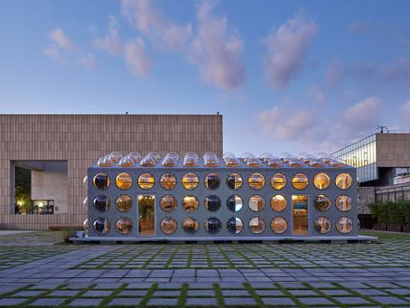 OBRA Architects adiciona aberturas salientes e borbulhantes ao Pavilhão Experimental em Seul