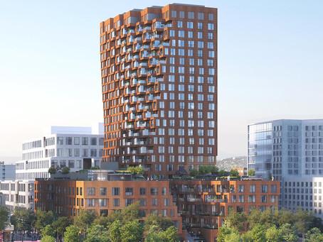 Começa a construção da torre de uso misto inspirada em geologia.